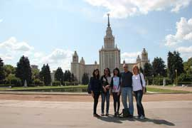 City Tour with Irina. Stop in front of The Moscow State University, Sparrow Hills
