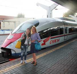 Moscow- St. Petersburg trip by sapsan high speed train