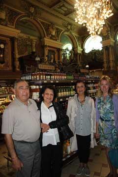 Inside Eliseevsky grocery store, Tverskaya street, with Irina